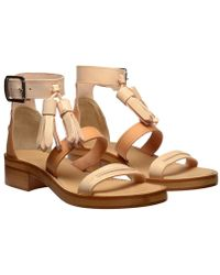 Acne Ambrosia Tasselled Leather Sandals - Lyst