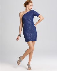 BCBGMAXAZRIA Dress One Shoulder Dress - Lyst