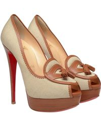 Christian Louboutin Campus Canvas Platform Pumps - Lyst