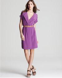 Julie Dillon - Dress Belted V Neck - Lyst