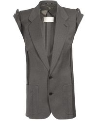 Maison Martin Margiela Deconstructed and Assembled Fine Wool Blazer - Lyst