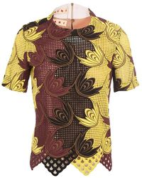 Marni Embroidered Floral Graph Tshirt - Lyst