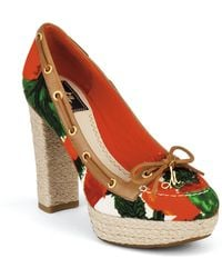 Milly For Sperry Topsider Printed Platforms - Lyst