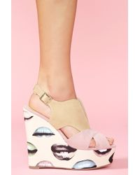 Nasty Gal Lipstick Jungle Platform Wedge brown - Lyst