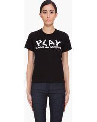 Play Comme Des Garçons Black Logo Print T-shirt - Lyst