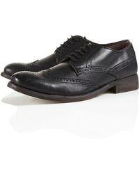 Topman Durham Brogue Formal Shoes - Lyst