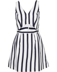 Topshop Stripe Cut Out Sun Dress - Lyst
