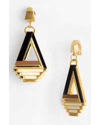 Tory Burch Floyd Statement Clip Earrings - Lyst
