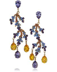 Bijoux Heart - Bali 24karat Goldplated Swarovski Crystal Earrings - Lyst