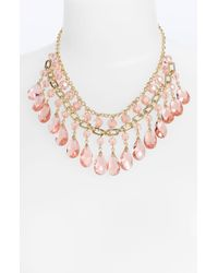 Cara Accessories Glass Stone Statement Necklace - Lyst