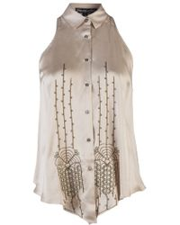 Elizabeth And James Sleeveless Silk Blouse - Lyst