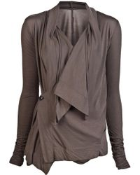 Rick Owens Lilies Giacca Collo Largo Top - Lyst