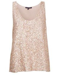 French Connection Fast Mini Sequins Tank Top - Lyst