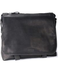 Kenneth Cole Canvas with Columbian Leather Messenger Bag - Lyst
