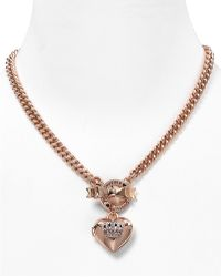 Juicy Couture - Bow Toggle Heart Crown Necklace  - Lyst