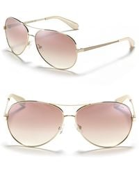Marc By Marc Jacobs Mirror Lense Aviator Sunglasses - Lyst
