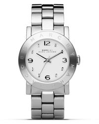 "Marc By Marc Jacobs ""New Amy"" Stainless Steel Watch, 36Mm - Lyst"