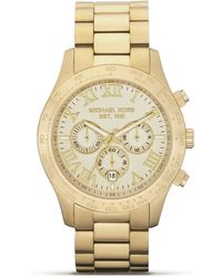 Michael Kors Men'S Round Gold Watch, 45Mm - Lyst