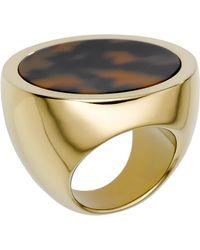 Michael Kors Michael Tortoise Slice Ring - Lyst