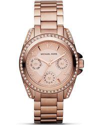 Michael Kors Round Rose Gold–Tone Glitz Sport Watch, 33Mm - Lyst