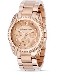 Michael Kors Rose Gold–Tone Watch, 39Mm pink - Lyst