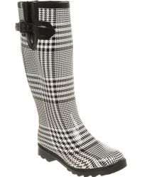 Office Nutty Knee Welly Dogtooth - Lyst