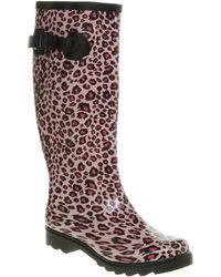 Office Nutty Knee Welly Pink Leopard - Lyst