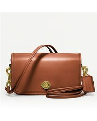 Coach Classic Leather Shoulder Purse - Lyst
