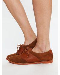 Free People Delos Saddle Shoe brown - Lyst