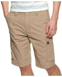 Lacoste Stretch Cotton Cargo Shorts - Lyst