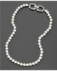 Lauren by Ralph Lauren Glass Pearl Necklace (6 Mm) - Lyst
