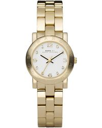 Marc By Marc Jacobs Women'S Mini Amy Gold-Tone Stainless Steel Bracelet 26Mm Mbm3057 - Lyst