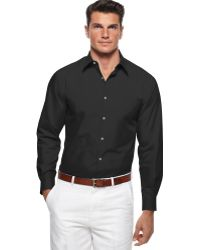 Perry Ellis Long Sleeve Woven Shirt - Lyst