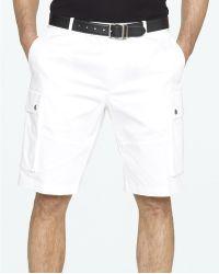 Ralph Lauren Black Label - Stretch Cotton Satin Cargo Shorts - Lyst