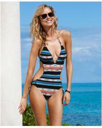 Ralph Lauren Plunge Halter Beaded Cutout Monokini - Lyst