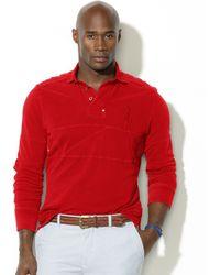 Ralph Lauren - Classic Fit Cotton Mesh Pieced Rugby Shirt - Lyst