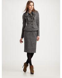 Burberry Prorsum Jersey Tweed Jacket - Lyst