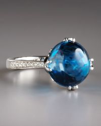Frederic Sage - Jelly Bean Blue Topaz Diamond Ring - Lyst