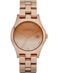 Marc By Marc Jacobs Henry Rose Gold Ion Plated Stainless Steel Bracelet 37mm - Lyst