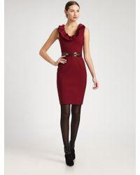 Oscar de la Renta Wool Dress - Lyst