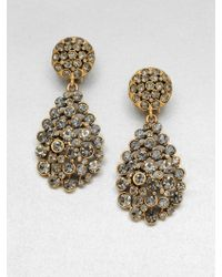 Oscar de la Renta Pavé Stone Accented Drop Clipon Earrings - Lyst