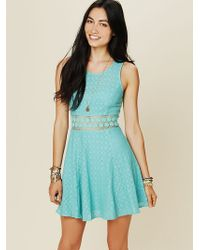 Free People Womens Fitted With Daisies Dress - Lyst
