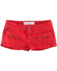 H&M Shorts red - Lyst