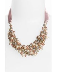 Nina Melaney Ribbon Cluster Bib Necklace - Lyst
