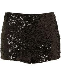 Topshop Black Sequin Knicker Shorts black - Lyst