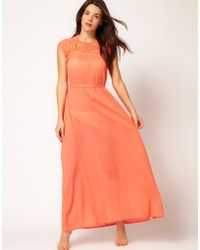 French Connection French Connection Maxi Beach Dress with Belt - Lyst
