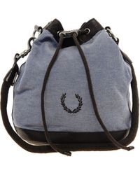 Fred Perry - Fred Perry Authentic Denim Drawstring Bag - Lyst