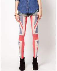 House of Holland | House Of Holland For Pretty Polly Union Jack Tights | Lyst