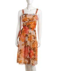 Lafayette 148 New York Floralprint Chiffon Dress - Lyst