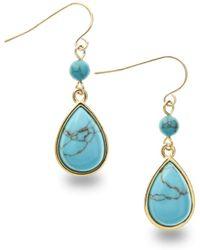 Lauren by Ralph Lauren Turquoise Teardrop Earrings blue - Lyst